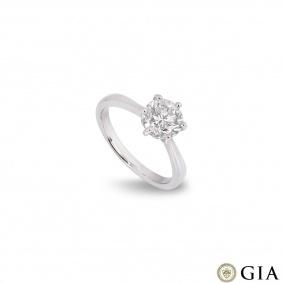White Gold Round Brilliant Cut Diamond Ring 1.55ct I/VS1